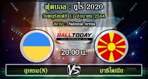 วิเคราะห์ฟุตบอล :ยูเครน(N) -vs- มาซิโดเนีย