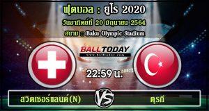 วิเคราะห์ฟุตบอล :สวิตเซอร์แลนด์(N) -vs- ตุรกี