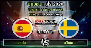 วิเคราะห์ฟุตบอล :สเปน -vs- สวีเดน