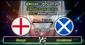 วิเคราะห์ฟุตบอล :อังกฤษ -vs- สกอตแลนด์